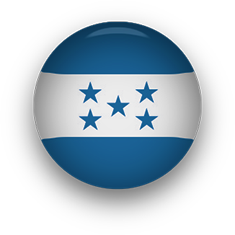 Honduras Flag button round