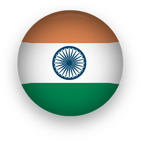 Indian Flag button round