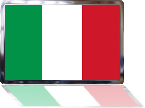 Italian Flag with reflection