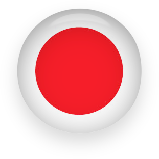 Japan Flag button round