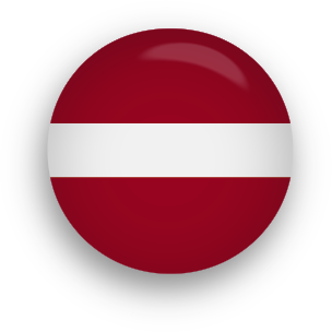 Latvia Flag button round