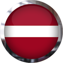 Latvian Flag button