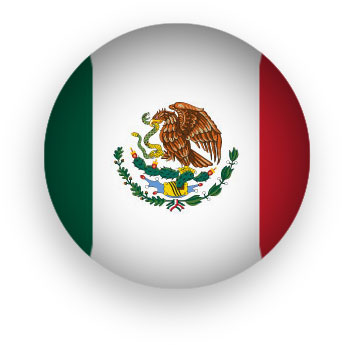 Mexican Flag round