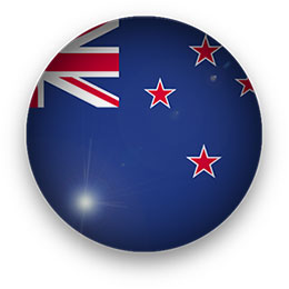 New Zealand Flag button round