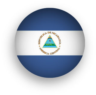 Nicaragua flag button round