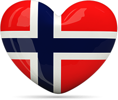 Norway Heart Flag