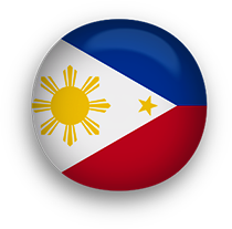 Philippines Flag button round