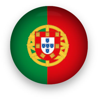 Portugal Flag button round