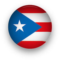 Puerto Rico Flag button round