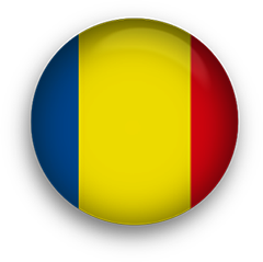Romania Flag button round
