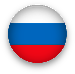 Russia Flag button round