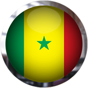 Senegal Flag button