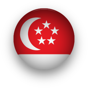 Singapore Flag round button