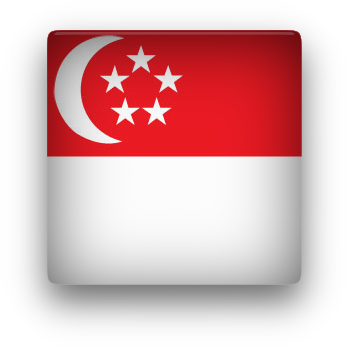 Singapore square button clipart