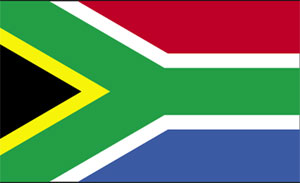 South African Flag clipart