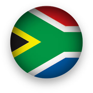 South Africa Flag button round