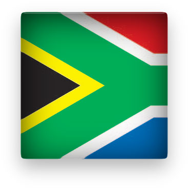 South Africa Flag clipart square