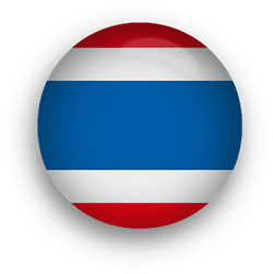 Thailand Flag button round