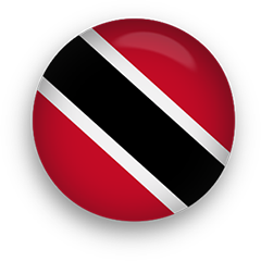 Trinidad and Tobago Flag button round