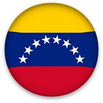 Venezuela Flag button round