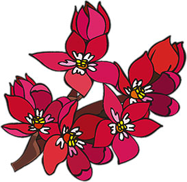 Animated flower. Clipart animations