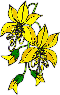Flower clipart flower animations yellow flowers with buds mightylinksfo