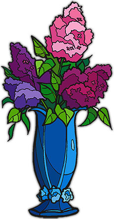 Free Flowers Horizontal Flower Rules Clipart