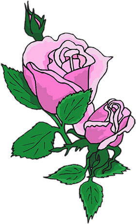 free animated roses rose clipart rh fg a com Flower Graphics Clip Art Pink Rose Bud Clip Art