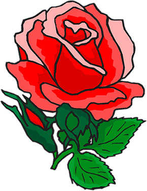 free animated roses rose clipart