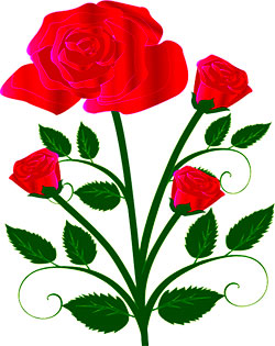 Free flower clipart spring flowers red roses and buds mightylinksfo