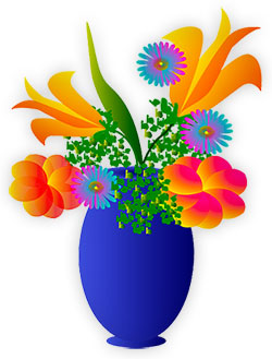 vase full of flowers