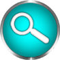 search icon blue round