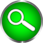 search icon green glass