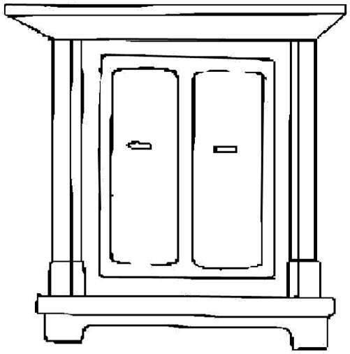 Black And White Armoire