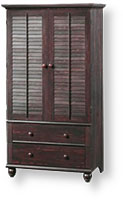 very dark wood armoire