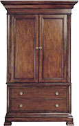 armoire with dark wood finish