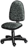 office chair, gray with castors