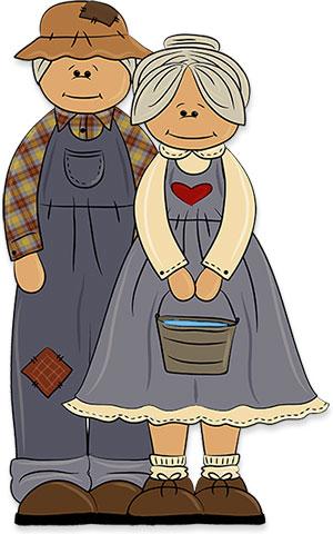clipart grandparents grandpa grandma happy looking animated graphics fg