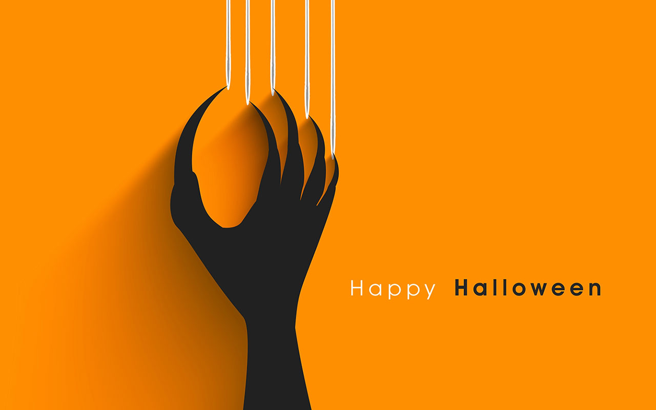 Happy Halloween With Scary Claw
