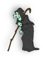 witch with staff