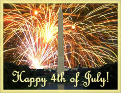 fireworks at the Washington Monument