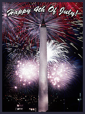 Washington Monument and fireworks