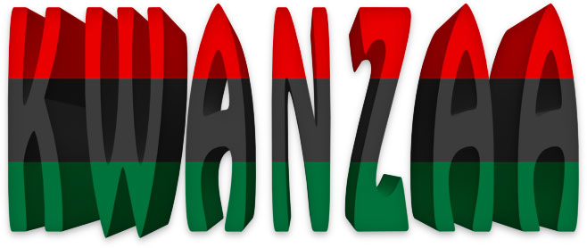Kwanzaa with Pan-African flag