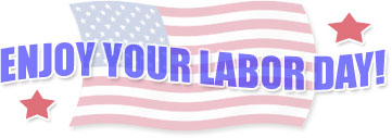 enjoy your labor day with American flag