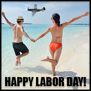 Labor Day at beach