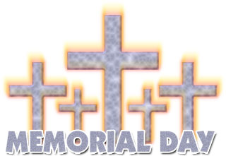 Memorial Day with Christian Crosses