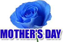 blue flower for Mother's Day
