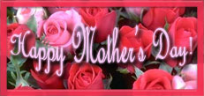 Happy Mother's Day with red and pink roses