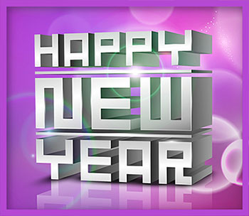 Happy New Year in 3D