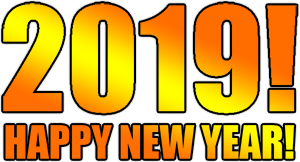 2019 Happy New Year PNG image